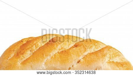 Wite Bread Close Up On White Background