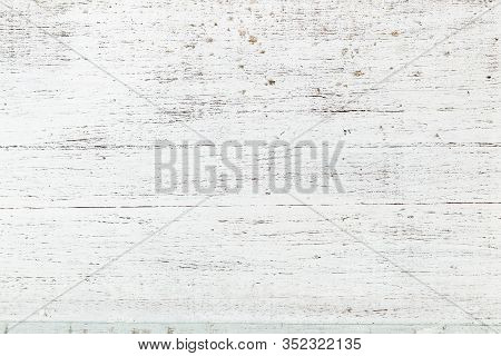White Shabby Old Wooden Texture. Grunge Style