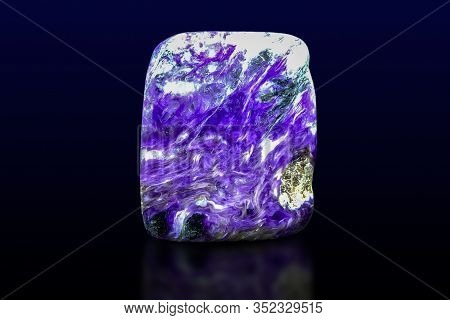 Charoite Crystal On Dark  Background . Close Up.