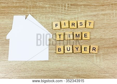 Paper House And The Words First Time Buyer