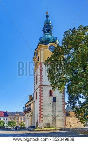 Banska Bystrica Town Castle With Clock Tower, Slovakia