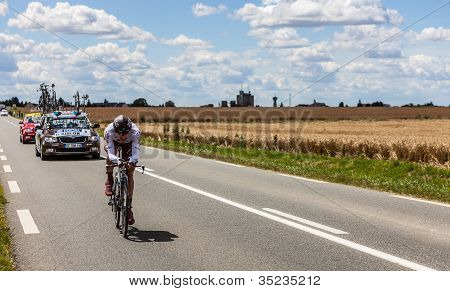 The French Cyclist Riblon Christoph