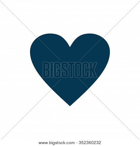 Heart Icon Vector Isolated On White Background