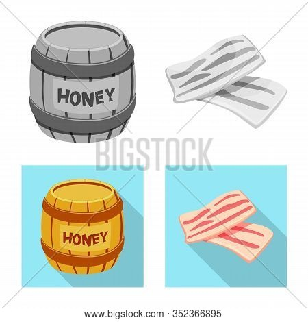 Vector Design Of Taste And Product Symbol. Set Of Taste And Cooking Stock Vector Illustration.