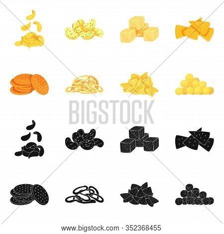 Vector Design Of Oktoberfest And Bar Symbol. Collection Of Oktoberfest And Cooking Stock Symbol For