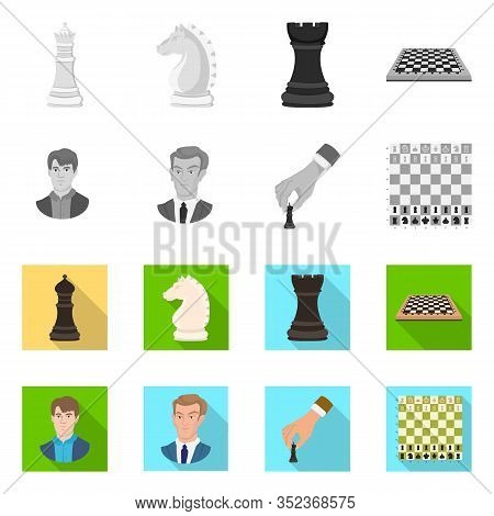 Isolated Object Of Checkmate And Thin Sign. Collection Of Checkmate And Target Stock Vector Illustra