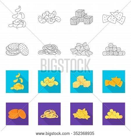 Vector Illustration Of Oktoberfest And Bar Sign. Collection Of Oktoberfest And Cooking Stock Vector