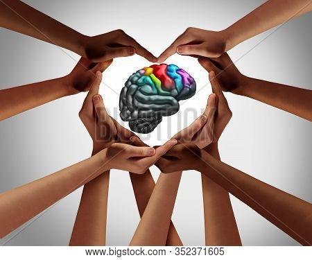 Mental Help And Psychology Support Or Autistic Brain And Autism Disorder Symptoms Or Asperger Syndro