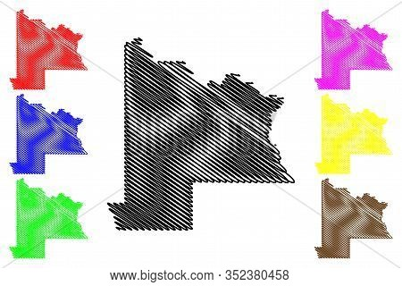 Gunnison County, Colorado (u.s. County, United States Of America,usa, U.s., Us) Map Vector Illustrat