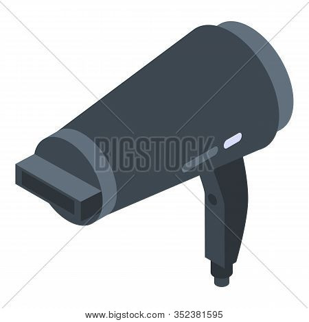 Fashion Hair Dryer Icon. Isometric Of Fashion Hair Dryer Vector Icon For Web Design Isolated On Whit