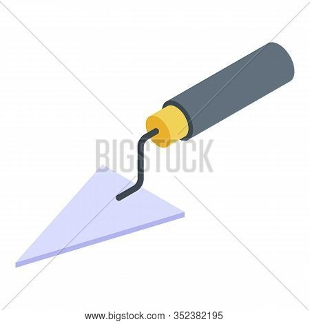 Triangular Trowel Icon. Isometric Of Triangular Trowel Vector Icon For Web Design Isolated On White