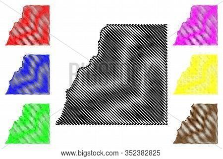 La Plata County, Colorado (u.s. County, United States Of America,usa, U.s., Us) Map Vector Illustrat