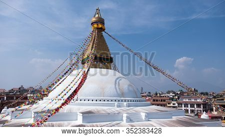 Nepal Kathmandu Boudha Stupa Or Boudhanath Is A One Of The Largest Spherical Stupas In Nepal.boudha