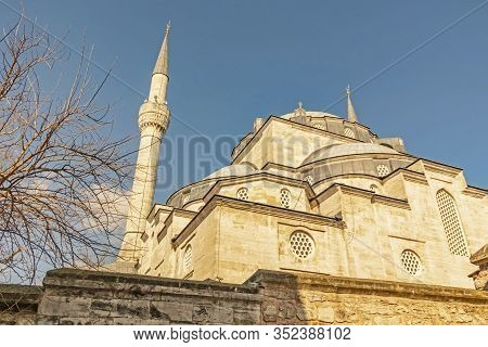 Uskudar,istanbul,turkey-february 23,2020.mihrimah Mosque, Or Iskele Mosque, Is The Mosque Built By M
