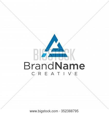 Letter A I Triangle Logo Design Vector Stock Illustration . Mountain Triangle Logo . Triangle Logo