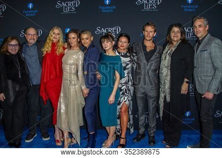 Cast and crew members of