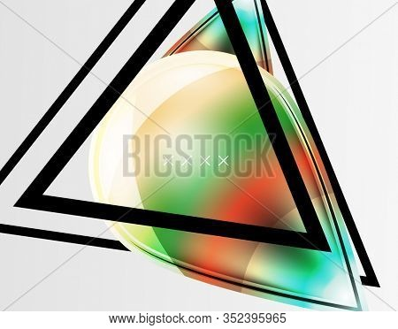 Abstract background - glossy glass bubbles, abstract sphere shapes, geometric dynamic composition with copyspace. Illustration For Wallpaper, Banner, Background, Card, Book Illustration, landing page