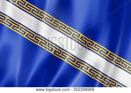 Champagne-ardenne Region Flag, France Waving Banner Collection. 3d Illustration
