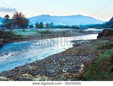 Autumn Morning Mountain River
