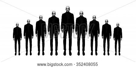 Cloned Maneequin Man Isolated Composition