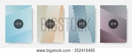 Gradient Zig Zag Stripes Texture Vector Backgrounds For   Annual Reports. Bright Zig Zag Gradient Li