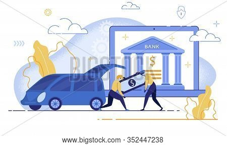 Financial Fraudulent In Internet, Crimes And Law Breaking In Digital Banking Trendy Flat Vector Conc