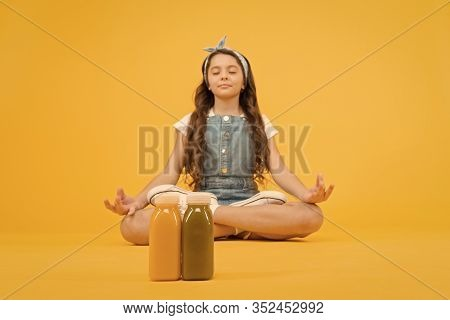 Learn Meditating Techniques. Stay Positive And Optimistic. Healthy Way Of Life. Yoga Training. Kid G