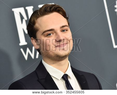 LOS ANGELES - JAN 12:  Dean-Charles Chapman arrives for the 25th Annual Critics' Choice Awards on January 12, 2020 in Santa Monica, CA