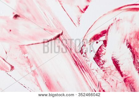 Artistic Abstract Texture Background, Pink Acrylic Paint Brush Stroke, Textured Ink Oil Splash As Pr