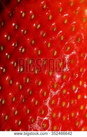 Strawberry Fruit Close Up Background High Quality