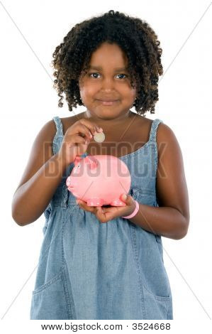 Girl With Money Box