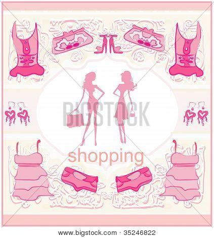 Fashion Silhouettes Girls Shopping set