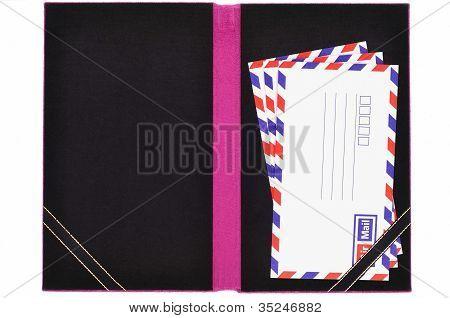 Classic Air Mail Envelope Card Book