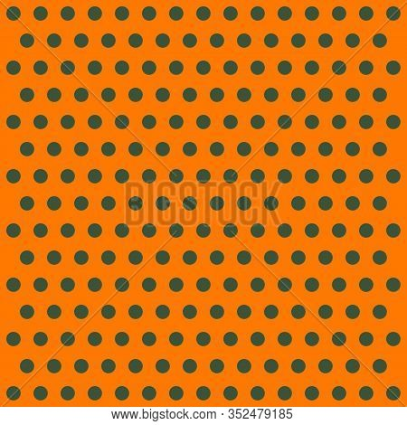 St. Patricks Day Pattern Polka Dots. Template Background In Green And Orange Polka Dots . Seamless F