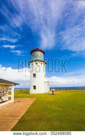 Kilauea Lighthouse on the coast of Kauai