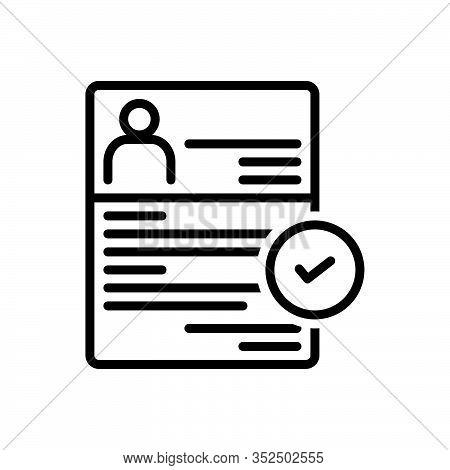 Black Line Icon For Recruitment Enlistment Enrolment Conscription Mince Recruitment Registration