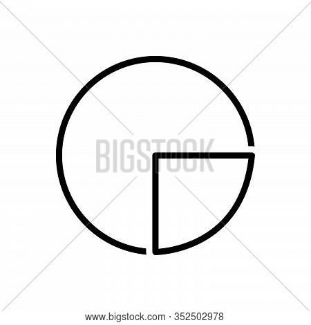 Black Line Icon For Diagram Blueprint Ground-plan Layout Chart Draft Circular Graph Infrogaphics Pie