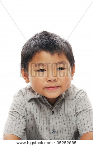 Cute Asian Boy Posing