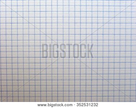 White Graph Paper Texture Background