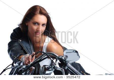 Attractive Girl Riding A Bike