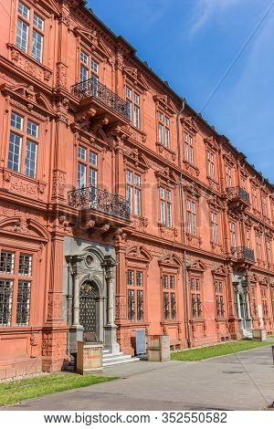 Mainz, Germany - August 04, 2019: Entrance Door To The Palace Museum In Mainz, Germany