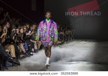 Kyiv, Ukraine - February 5, 2020: Iron Thread Collection Show During Ukrainian Fashion Week Fw20-21