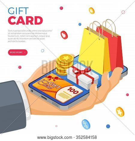 Gift Card And Customer Loyalty Programs As Part Return Marketing. Gift Box, Returns, Interest, Point