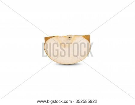 Sliced Ripe Snow Pear Or Fengsui Pear On White Background
