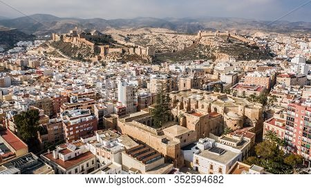Cityscape Of Almeria And Its Attractions. Aerial View