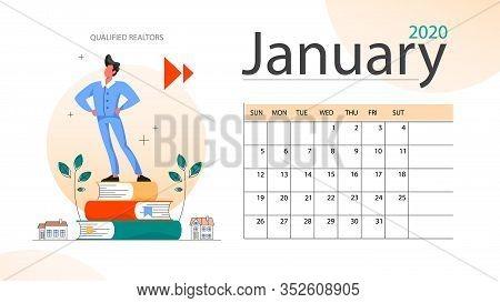 Real Estate Advantage Annual Calendar January. Idea Of House For Sale