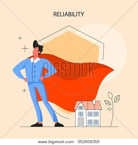 Real Estate Advantage Concept. Qualified And Reliable Real Estate Agent