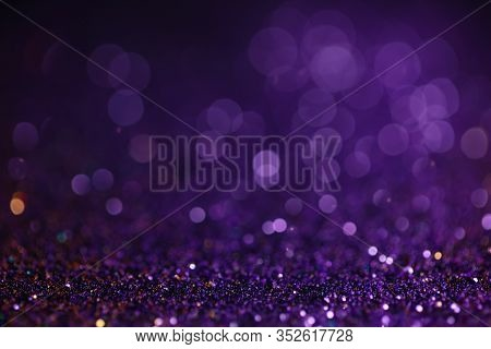 Decoration Bokeh Glitters Background, Abstract Glowing Backdrop With Circles, Modern Design Wallpape