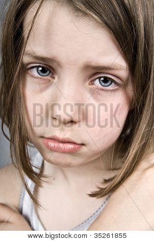 Sad Blue Eyed Child