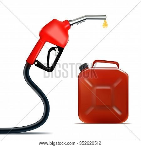 Realistic Fuel Nozzle With Oil Drop And Jerrycan